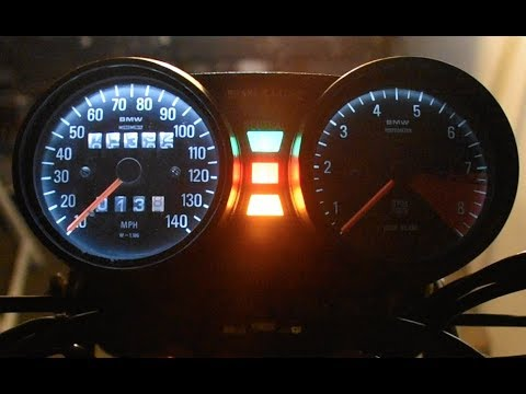How to Install LED Bulbs in BMW R100/7 Airhead Instrument Cluster