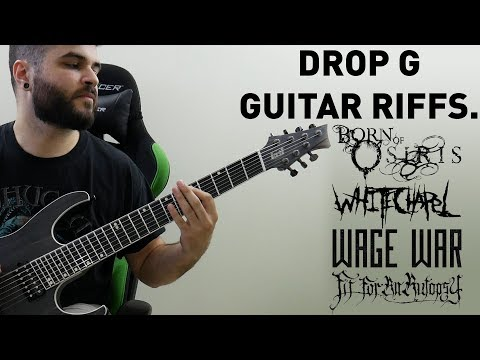 4 Heavy Drop G Guitar Riffs On A 7 String Guitar