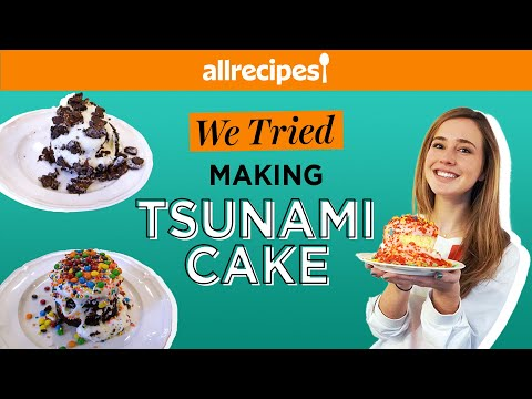 We Tried Making Miniature Tsunami Cakes | Cake Trends | We Tried It