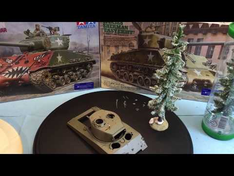 Tamiya 1/35 Sherman Easy Eight Step by step build - смотреть