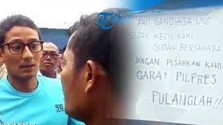 Video saat Sandiaga Uno Diminta Pulang saat Kunjungi Pasar Kota Pinang, Panggil si Pemasang Tulisan