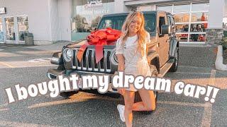 I BOUGHT MY DREAM CAR + CAR TOUR!! | 2020 Jeep Wrangler Unlimited Sahara