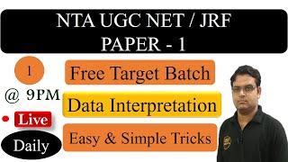 Data Interpretation UGC NET Paper 1 - NTA UGC NET JRF Exam