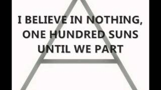 30 Seconds To Mars - 100 Suns with Lyrics