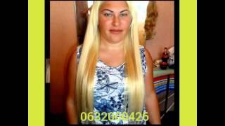 Наращивание волос на светлых волосах