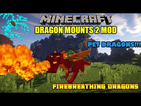✔ 1.11-1.12 MINECRAFT Dragon Mounts 2: Firebreathing Dragons! Dragon Armors, Mod Showcase