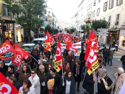 VIDÉO. Nouvelle manifestation contre la réforme des retraites à Ajaccio