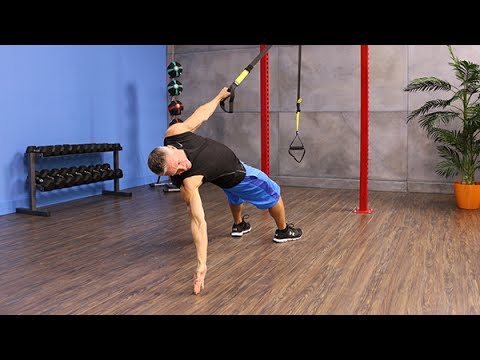 Single Arm Back Row with Rotation with TRX