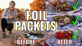 HOW TO MAKE FOIL PACKETS FOR CAMPING (aka Hobo Meals): How To Assemble, Fold, And Cook!