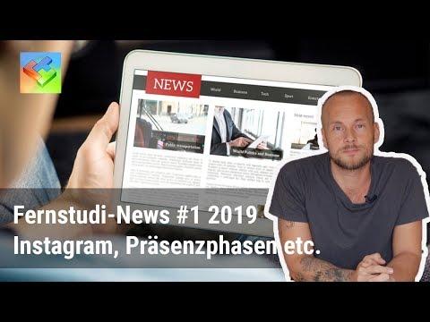 Fernstudium-News #1 2019 – Präsenzphasen, Influencer-Marketing, Präsenzstudium vs. Fernstudium