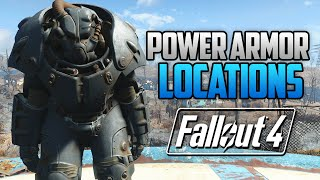 Fallout 4 - ALL FULL POWER ARMOR LOCATIONS! T45, T51, Raider, T60 & X-01 (FO4 Power Armor Locations)
