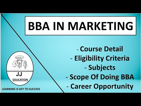 BBA In Marketing | BBA In Marketing Course Details | Eligibility | Subjects | Career Opportunities