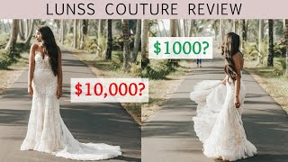 $10,000 Wedding Dress Custom Made For $1k // Lunss Couture Wedding Dress Review