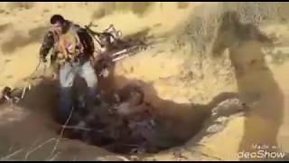اتحاد قبائل سيناء يداهم جحر معدات وقطع موتوسيكلات للارهابيين التكفيريين في سيناء