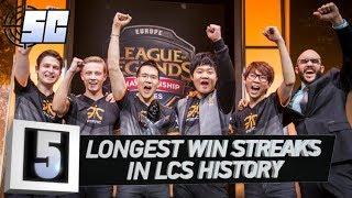 5 Longest Win Streaks in LCS History | LoL esports