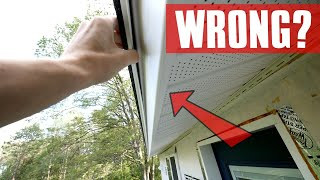 Pro Hidden Fastener Finished Vinyl Soffit Installation - New Technique But was it Wrong?