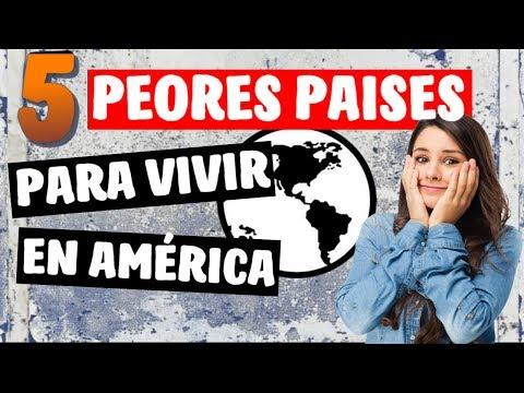✔ Los 5 Peores Países para Vivir y Emigrar en América