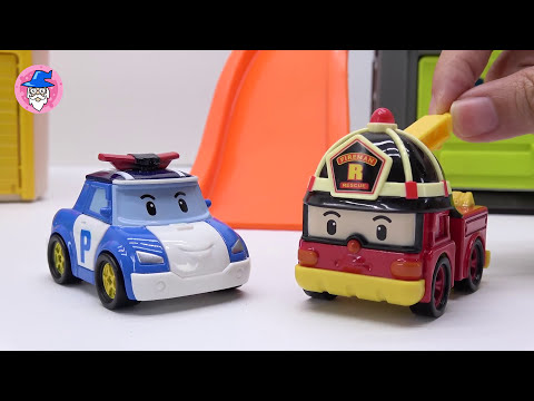 Robocar Poli special clip & rescue tool mission & construction toys Color sand play ♥ TOY WIZARD