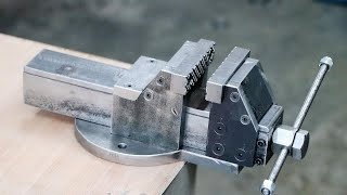 How To Make A Bench Vise || DIY Metal Bench Vise Without Welding
