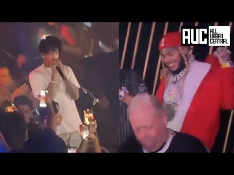 6ix9ine Parties In The Same Club As 21 Savage With No Problems