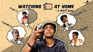 Watching Tv at home - a short play