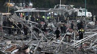 Мексика: 300 тонн фейерверков взорвались на рынке