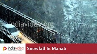 Breathtaking Snowfall at Manali