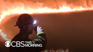 Southern California Battles Wildfire And Pandemic