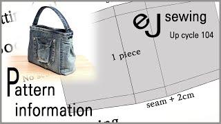 EJ-Pattern 104/Pattern Information/Share Patterns/One-handle Handbag/DIY/CRAFTS/MAKE A BAG/패턴 공유