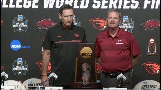 2018 College World Series - CWS Championship Finals Press Conference (Oregon State & Arkansas)