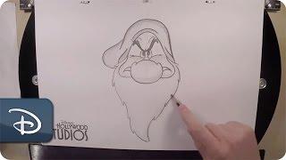 How-To Draw Grumpy | Snow White And The Seven Dwarfs | Walt Disney World
