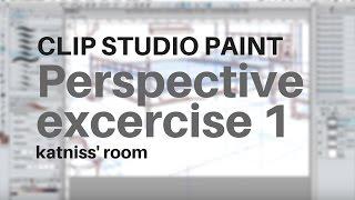 Perspective exercise1 - Katniss' room - clip studio paint pro