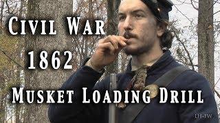 """Civil War - Musket Loading Drill """"In-Nine-Times"""" HD"""