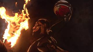 "Lebron James || Fire Painting || 36""X48"""