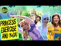 Princess Exercise and Yoga for Kids | At Home Workout with Belle, Elsa and Rapunzel | Go with YoYo