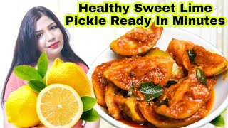 Healthy Weightloss Sweet Lime Pickle From Lemon Waste Skin | SuperPrincessjo
