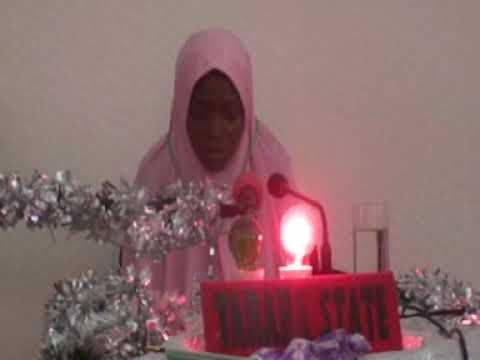 2014 Nigerian Musabaqah: Taraba State 60 Hizb Female Representative