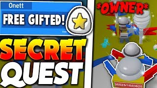 COMPLETING OWNERS *SECRET* QUEST! (GIFTED EGG) - Roblox Bee Swarm Simulator