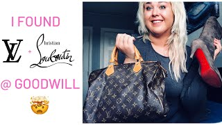Louis Vuitton & Louboutins from the Goodwill Outlet!! My CRAZIEST Thrift Haul Yet