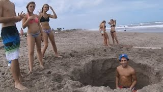 Metal detecting, digging for treasure on the Treasure Coast, Stuart Florida