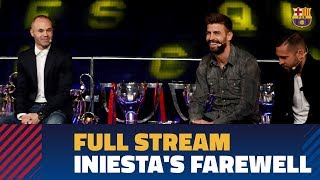 FULL STREAM   Institutional farewell for Andrés Iniesta at the Camp Nou