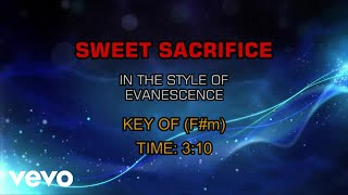 Evanescence - Sweet Sacrifice (Karaoke)