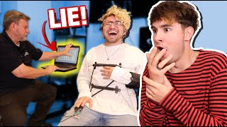 He was hiding the truth from me... (lie detector test)
