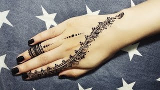 Henna Tattoo Tutorial : Video diy easy mehendi design for fingers tutorial henna