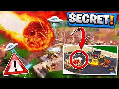 *NEW* Area in TILTED TOWERS!   Date of COMET Confirmed! ( Fortnite Meteor Theory )