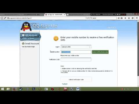 Video Tutorial Cara Registrasi akun QQ Guide Bahasa Indonesia Step by step