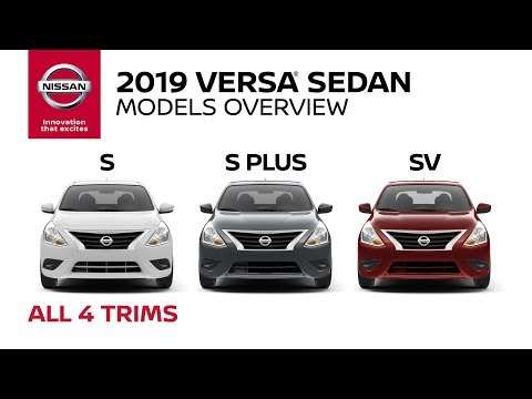All 2019 Nissan Versa Sedan Models Explained
