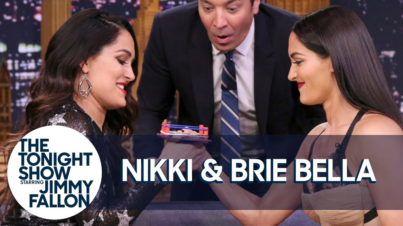 Nikki and Brie Bella Compete in the Tonight Show's Thumb Wrestling Championship thumbnail