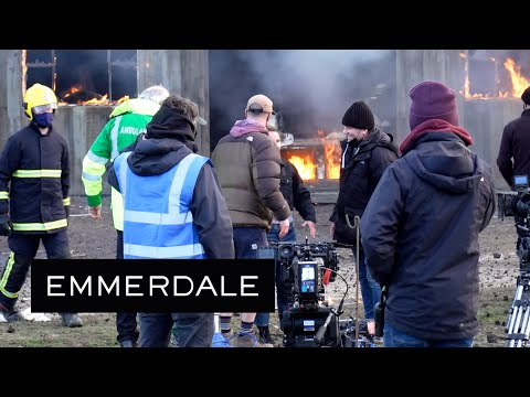 Emmerdale - Behind the Scenes of the Barn Explosion