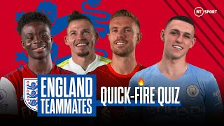 Fastest? Toughest? Smartest? England Teammates Quick-Fire Quiz ft. Foden, Saka, Henderson and more!